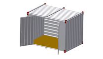 Container 3 m – double-wing door in side wall