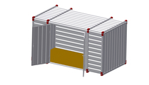 Container 4 m – double-wing door in side wall