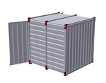 Container 2,25 m – double-wing door in front side 2