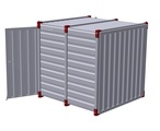 Container 2,25 m with bunded floor with 2 pairs of air grilles - double-wing door in front side 2