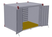 Container 3 m – double-wing door in side wall 2
