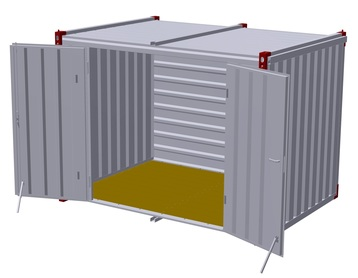 Container 3 m – double-wing door in side wall 3
