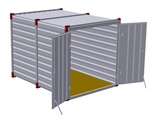 Container 3 m – double-wing door in front side 2