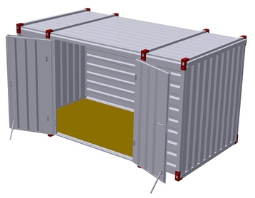 Container 4 m – double-wing door in side wall 3
