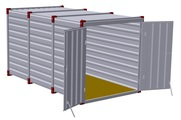 Container 4 m – double-wing door in front side 2