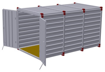 Container 4 m – double-wing door in front side 3