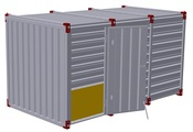 Container 4 m – one-wing door in side wall 2