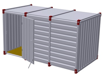 Container 4 m – one-wing door in side wall 3
