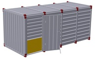 Container 5 m – one-wing door in side wall 2