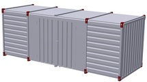 Container 6 m – double-wing door in side wall 1
