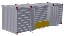 Container 6 m – double-wing door in side wall 2