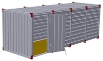 Container 6 m – one-wing door in side wall 2