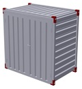 Container 1375 x 2200 mm with wooden floor - double-wing door in front side 3