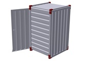Container 1000 x 1200 mm with wooden floor – one-wing door in side wall 2