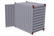 Container 1375 x 2200 mm with wooden floor – one-wing door in side wall 2